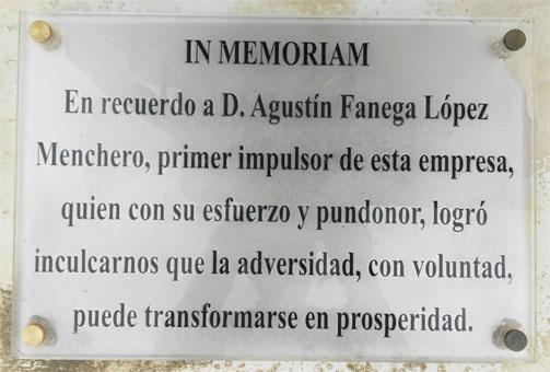 In Memoriam de Agustín Fanega López Menchero