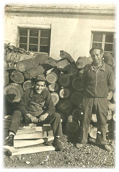 Carpinteros Década de los 50 en Daimiel Fanega