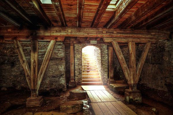 Vigas de madera para bodega