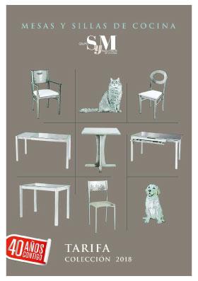 Catálogo de sillas y mesas