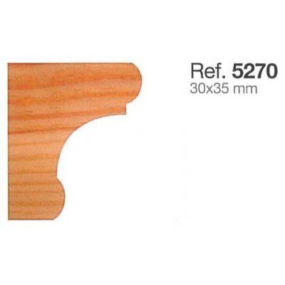 Moldura de Madera Cornisa de 30x35
