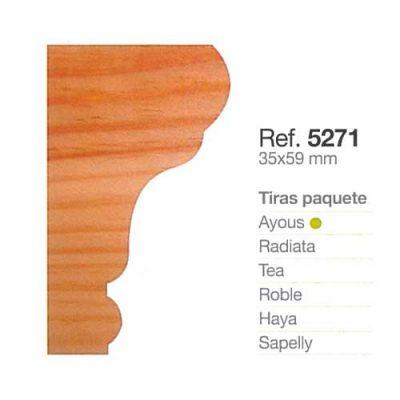 Moldura de Madera Cornisa de 35x59