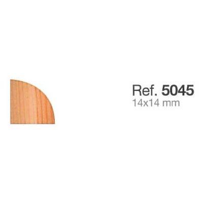 Moldura de Madera Rinconera Redonda de 14x14 mm