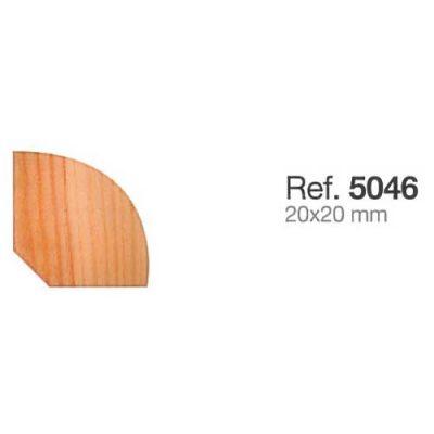 Moldura de Madera Rinconera Redonda de 20x20 mm